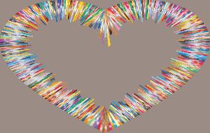 לב צבעוני